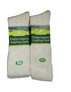 Adulto-fishing-biking-senderismo-Crema-Lana-encima-de-la-rodilla-Outdoor-Socks-2-pares-Pack