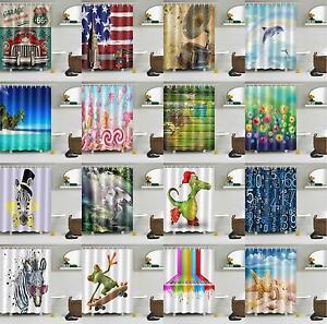 72x72-039-039-Animals-Scenic-Fabric-Bathroom-Waterproof-Shower-Curtain-with-12-Hooks