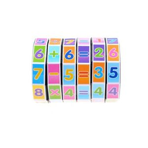 KinderBildung-Lernen-Mathe-Lehre-Hilfsmittel-Puzzle-Wuerfel-Zauber-Antwort-stJMW0