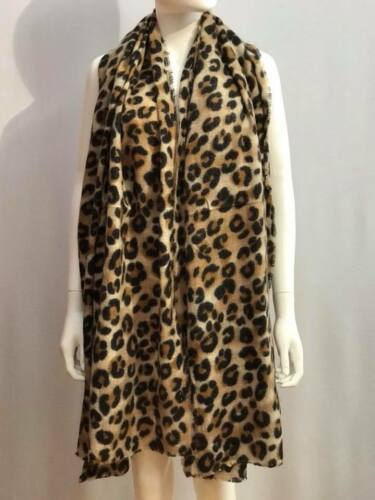 WOMENS WINTER LEOPARD BIG SCARF SHAWL STOLE PASHMINA SHAWL WRAPS WARM SCARVES