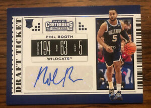Phil-Booth-Auto-2019-Panini-Contenders-Draft-Picks-Draft-Ticket-Blue-Foil-SP