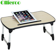 Ollieroo Lap Desk Wood Folding Tray Table Breakfast Bed Food Laptop