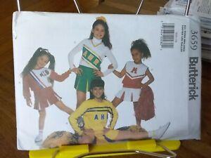 Oop-Butterick-3659-girls-cheerleaders-outfits-pleated-skirts-panties-sz-4-14-NEW