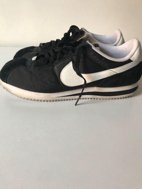 wholesale dealer bf4c3 8cbe0 Nike Cortez Basic Nylon Obsidian/White Men's Running Shoes 819720-411 Size  12.5
