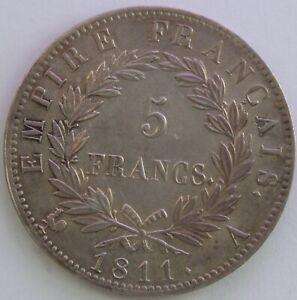 FRANCE-5-FRANCS-NAPOLEON-EMPEREUR-1811-A-SUP