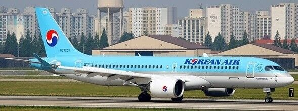 JC Wings jcew 2CS3001 1/200 KOREAN AIR BOMBARDIER CS300 HL7201 con supporto
