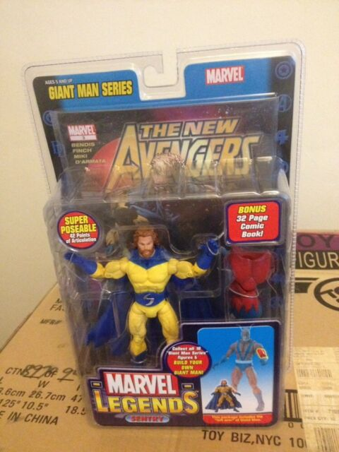 MARVEL LEGENDS GIANT MAN SERIES SENTRY BEARD VARIANT CHASE YELLOW SUIT FIGURE