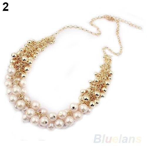 Good beautiful delicate Occident Style hyperbole Multilayer pearl necklace B57U