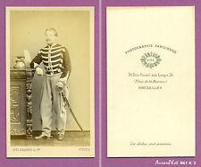 CDV DELABARRE à BRUXELLES : SOLDAT MILITAIRE BELGE, CAVALERIE, LANCIERS,1865-K3
