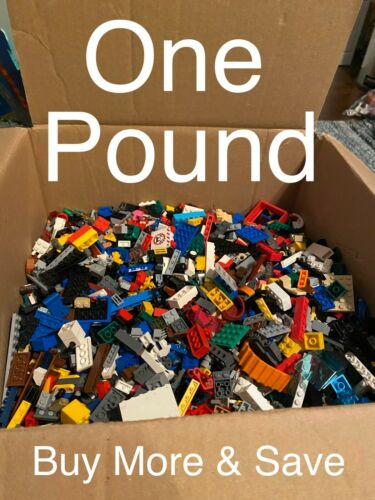 Buy More /& Save!! 1 Lb Bulk Lot LEGO Bricks Random Authentic Pound City