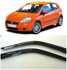 For Fiat Grande Punto 3d 2005-2017 Window Visors Side Rain Guard Vent Deflectors