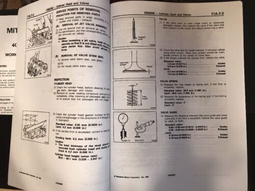 Mitsubishi Forklift FG25-4G52 4G54 4G55 ASTRON ENGINE SERVICE REPAIR MANUAL