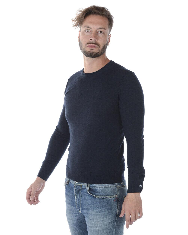 Maglia Maglione Daniele Alessandrini Alessandrini Alessandrini Sweater Lana Uomo Blu FM51121AB3706 51 4fe495