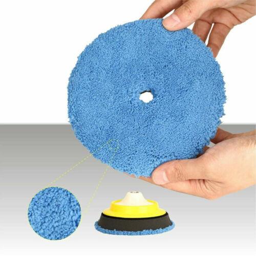 5/'/' Zoll Mikrofaser Polierscheibe Autopflege Detaillierung Wachsen Polieren Pad