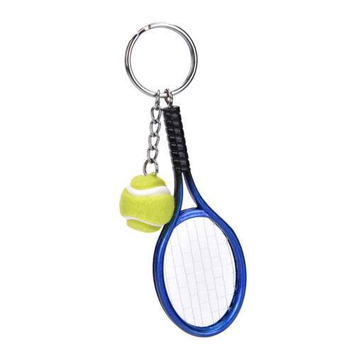 Metal Creative 3D Tennis Rackets Ball Key Chain Key Ring Gift Keychain LDBJ
