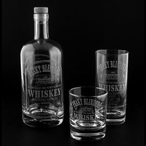 peaky blinders empty engraved 70cl whiskey decanter glass free