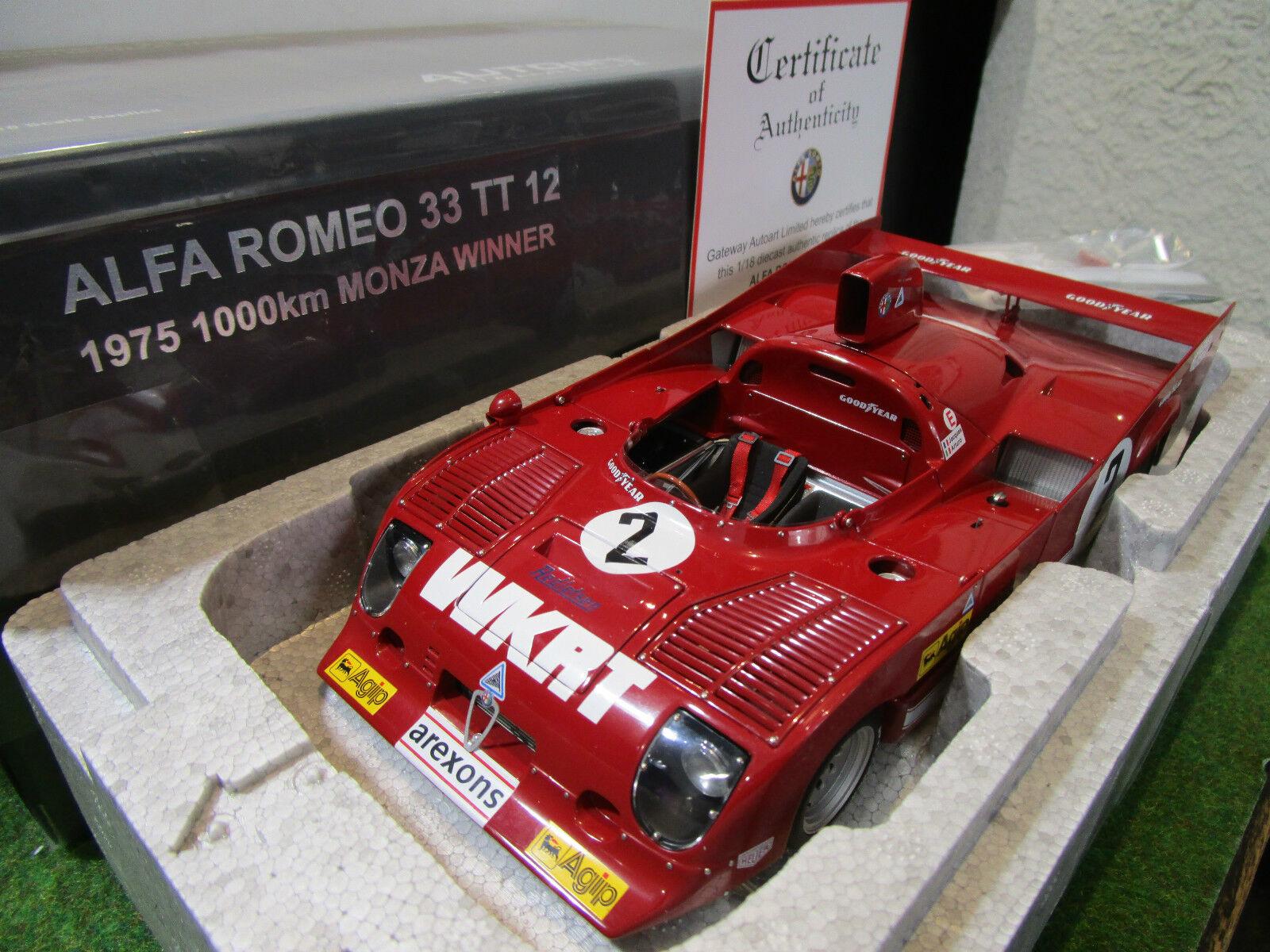 ALFA ROMEO 33 TT 12  2 WINNER MONZA 1975 au 1 18 AUTOART 87504 voiture miniature