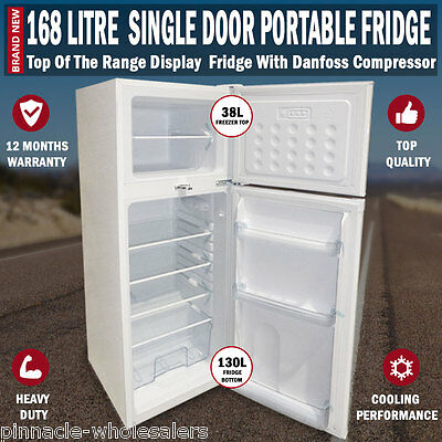 NEW 168L Portable Freezer Fridge 12V/24V/240V Camping Car Boating Caravan Bar