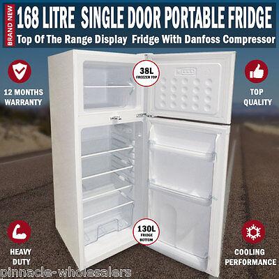 NEW 168L Portable Freezer Fridge 12V/24V/240V Camping Car Boating Caravan Bar