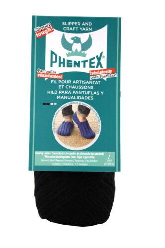 167 yd Black Phentex Olefin Dryable Machine Washable Craft Yarn 3 oz
