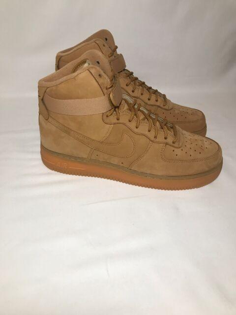 Nike Mens Air Force 1 High 07 Lv8 Wheat Flax Gum Sz 9