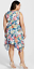 Adrianna Papell Floral Print Asymmetrical Fit /& Flare Dress NWT $168