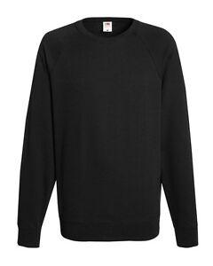 Fruit-of-the-Loom-MENS-SWEATSHIRT-Lightweight-Raglan-SWEAT-240gsm-Sweater