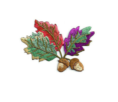 Embroidered Iron On Applique Patches Acorns Fall Autumn 4