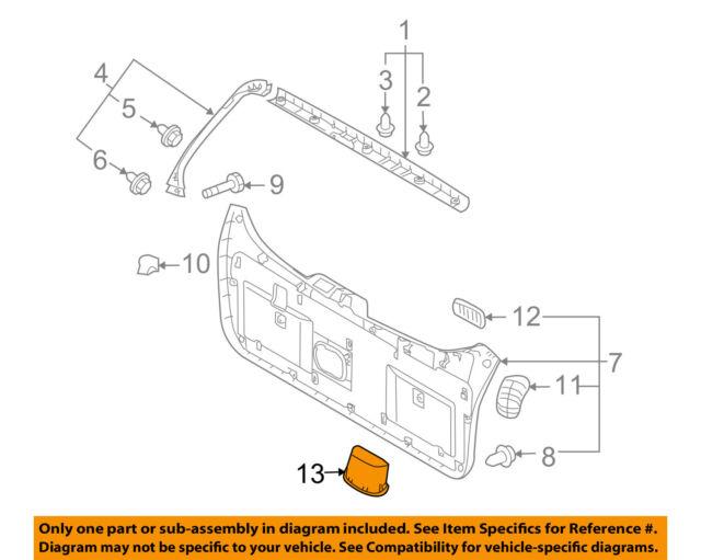 hyundai oem 10 15 tucson liftgate tailgate hatch pull pocket rh ebay com Diagram of Ford Tailgate Diagram of Ford Tailgate