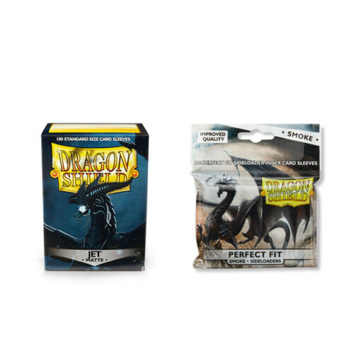Dragon Shield Matte Jet Inner Sleeve Sideloader Smoke Standard Size 100 ct Car