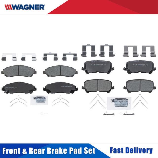 Front & Rear 8 PCS Wagner Ceramic Disc Brake Pads Set For