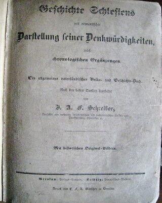 Geschichte Schlesiens mit Darstellung seiner Denkwürdigkeit J.A.F. Schreiber ALT