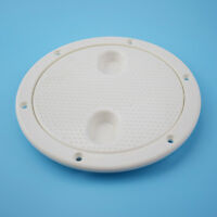 Boat Marine 4'' Round Access Hatch Cover Lid Screw Out Deck Plastic Arrival