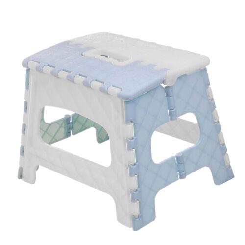 Portable Folding Step Stool Bathroom Lightweight Footstool for Kids Sky blue
