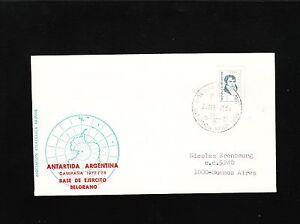 Argentina Antarctica Belgrano Base 1978 to Buenos Aires Cover 6v