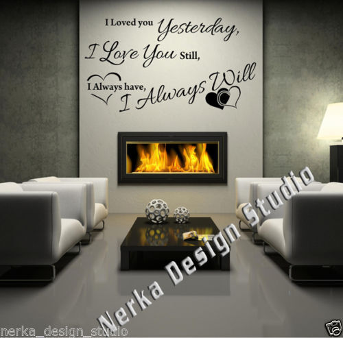 I LOVE YOU STILL WALL QUOTES Vinyl Wall Art Decal Stickers  Lyric WALL QUOTE S45