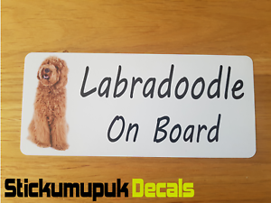 Decal HQ Print External Window Sticker Labradoodle on Board Car Van Sticker