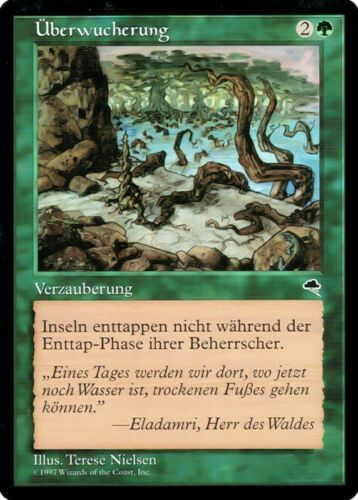 """mtg Magic the Gathering mapa /""""encías/"""" alemán como nuevo"""