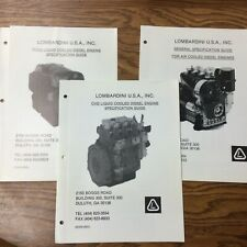Lombardini Air Cooled Amp Focs Chd Specification Guide Spec Manual Diesel Engine