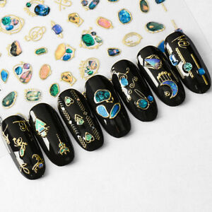 1 Sheet 3D Star Moon Nail Art Stickers Decals Nails Tips Decor DIY ...