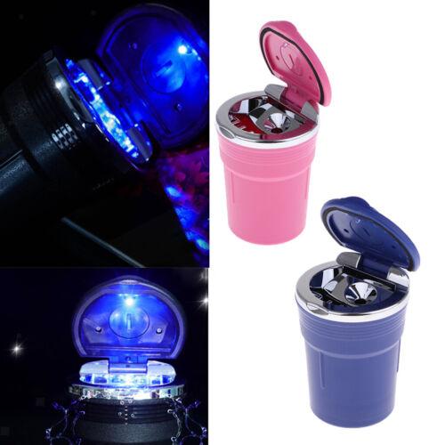 2Pcs Blue /& Pink Portable Auto Aschenbecher Zylinder ABS Kunststoff Butt