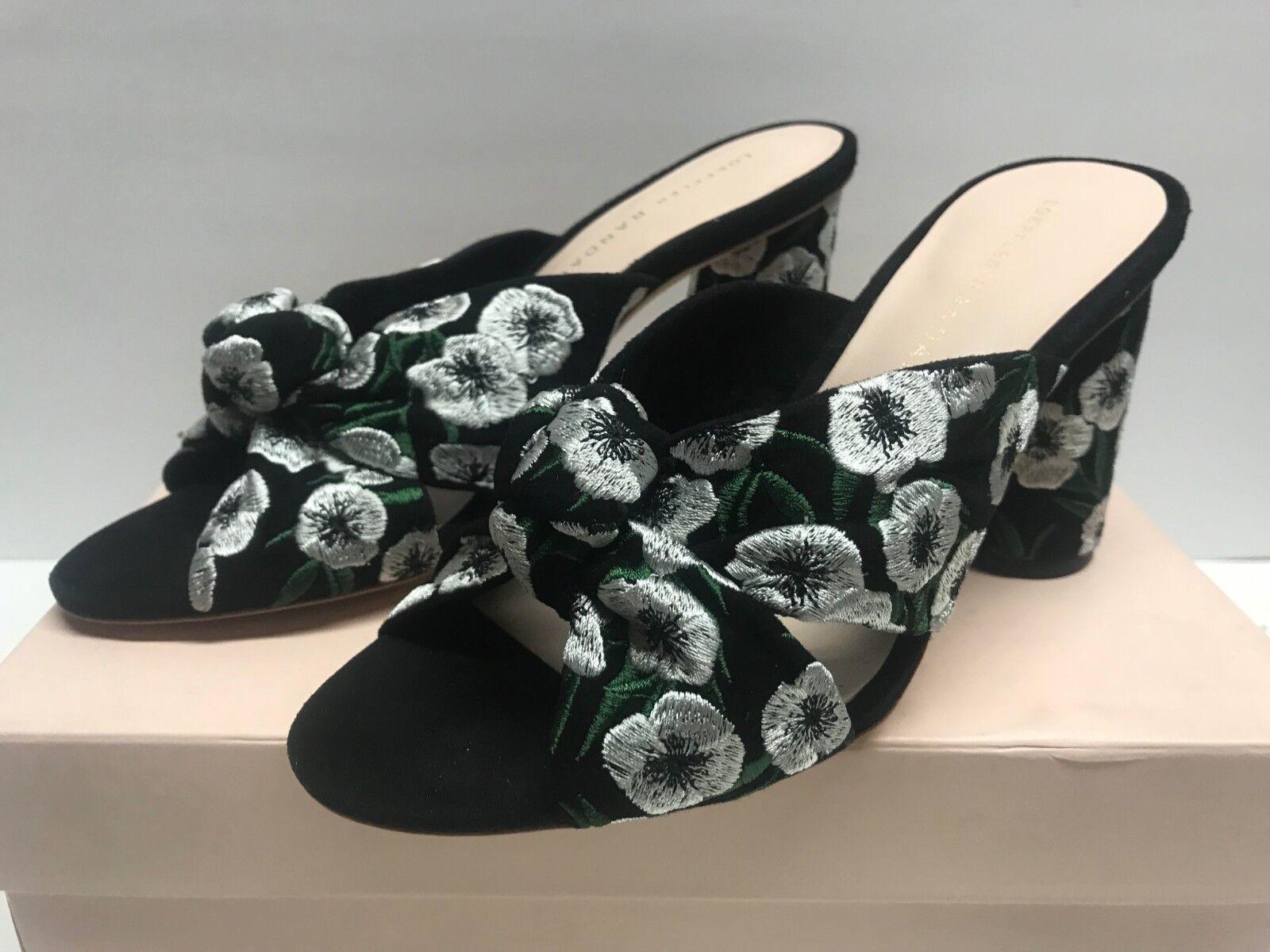 vendita di offerte Loeffler Randall Donna  6.5 Coco Coco Coco High Heel Knot Slide Heeled Sandal nero verde  Sconto del 70%