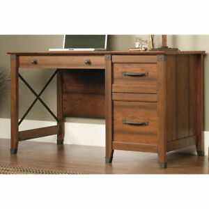 412920 Sauder Carson Forge Washington Cherry Desk Ebay