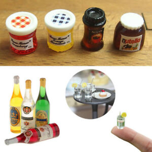 4X-Mini-Cup-Water-Bottle-Toy-Dollhouse-Miniature-1-6-1-12-Scale-Model-Home-Decor
