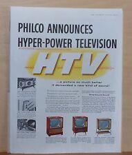 1957 magazine ad for Philco - Hyper Power Television models 4622M, 4620M, 4214ST