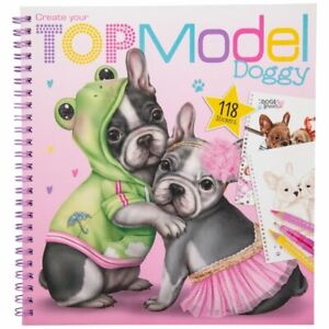 depesche create your topmodel doggy colouring book top model dogs 4010070445171 | ebay
