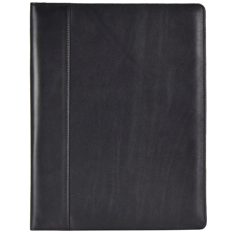 Dermata Schreibmappe Aktenmappe Collegemappe glattes Leder Leder Leder 32 cm (schwarz)   Verschiedene Arten Und Die Styles    Geeignet für Farbe    König der Quantität  2a5c62