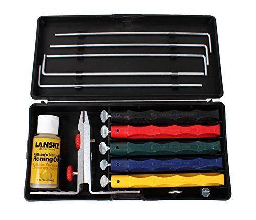 Lansky Deluxe 5-Stone Sharpening System Hone Knife blade edge Sharpener Sharp