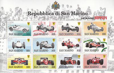Europa San Marino Nr San Marino 1758-1769** 50 Jahre Ferrari-automobile Freigabepreis