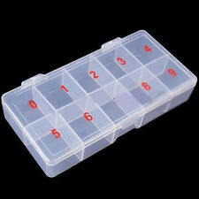 10 Compartment Plastic Empty Storage Case Box for False Nail Art Tips Gems Beads